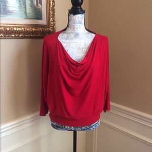 Eileen Fisher Red Blouse